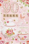 90 Today Female Birthday Card